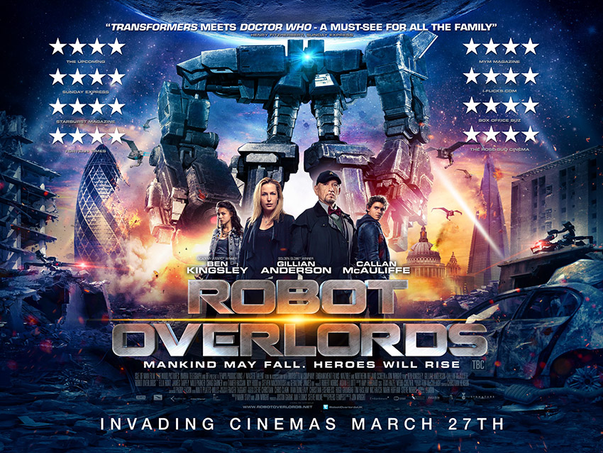 Robot Overlords UK Poster